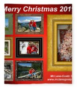 Mclanegoetz Studio Christmas Card Fleece Blanket