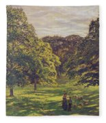Meadow Scene  Fleece Blanket