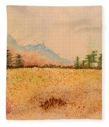 Meadow Wildflowers - Watercolor Fleece Blanket