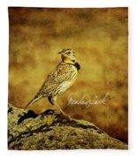 Meadowlark Fleece Blanket