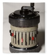 Mechanical Calculator Fleece Blanket