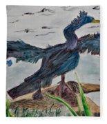 Anhinga-drying Out Fleece Blanket