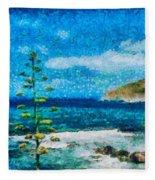 Mediterranean View Fleece Blanket