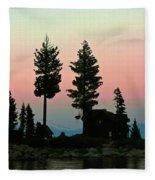 Meeks Bay Sunset. Fleece Blanket
