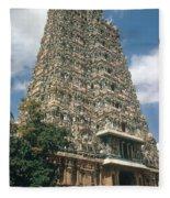 Meenakshi Temple Fleece Blanket