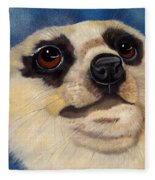Meerkat Eyes Fleece Blanket