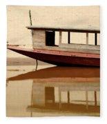 Mekong Reflection 2 Fleece Blanket
