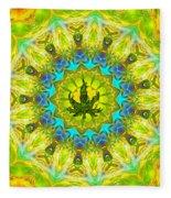 Mellow Yellow Mandala Fleece Blanket