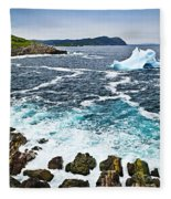 Melting Iceberg In Newfoundland Fleece Blanket
