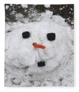 Melting Snowman Fleece Blanket