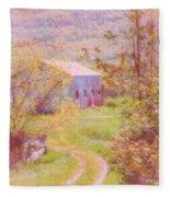 Memories Of The Farm Fleece Blanket