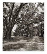 Memory Lane Monochrome Fleece Blanket