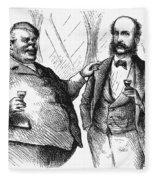 Men Drinking, 1872 Fleece Blanket