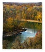 Meramec River Bend At Castlewood State Park Fleece Blanket