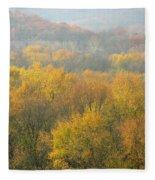 Meramec River Valley Autumn At Castlewood State Park In Missouri Fleece Blanket