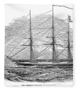 Merchant Steamship, 1844 Fleece Blanket
