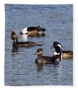 Mergansers After The Rain Fleece Blanket