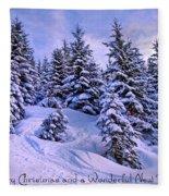 Merry Christmas And A Wonderful New Year Fleece Blanket