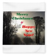Merry Christmas And Happy New Year 2 Fleece Blanket