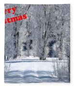 Merry Christmas Card 1 Fleece Blanket