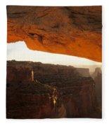 Mesa Arch First Light Fleece Blanket