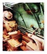Metal Lathe In Submarine Fleece Blanket