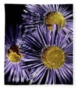 Metallic Daisies Fleece Blanket