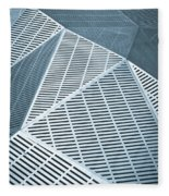 Metallic Frames Fleece Blanket