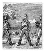 Mexican American War, 1846 Fleece Blanket