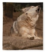 Mexican Wolf Howling Fleece Blanket