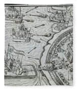 Mexico - Spanish Conquest Fleece Blanket