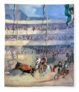 Mexico: Bullfight, 1833 Fleece Blanket