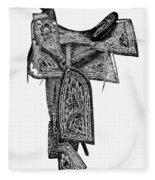 Mexico: Saddle, 1882 Fleece Blanket