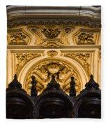 Mezquita Cathedral Choir Stalls Details Fleece Blanket
