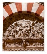 Mezquita Cathedral Religious Carving Fleece Blanket