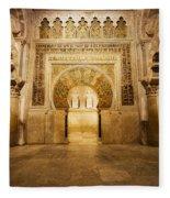 Mezquita Mihrab In Cordoba Fleece Blanket