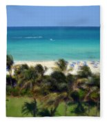 Miami Beach Fleece Blanket