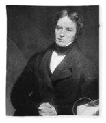 Michael Faraday, English Chemist Fleece Blanket