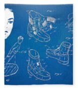 Michael Jackson Anti-gravity Shoe Patent Artwork Fleece Blanket