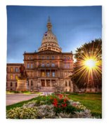 Michigan Capitol - Hdr - 2 Fleece Blanket