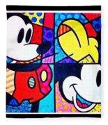 Mickey Colors Fleece Blanket
