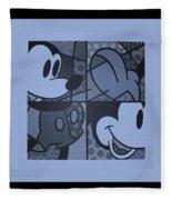 Mickey In Cyan Fleece Blanket