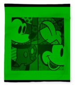 Mickey In Green Fleece Blanket