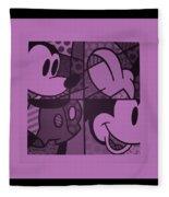Mickey In Light Pink Fleece Blanket