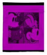 Mickey In Purple Fleece Blanket