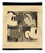 Mickey In Sepia Fleece Blanket