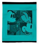 Mickey In Turquois Fleece Blanket