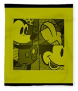 Mickey In Yellow Fleece Blanket