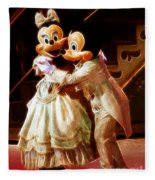 Micky And Minnie Mouse Skate Fleece Blanket