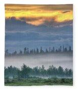 Mid Summer Night's  Fog Fleece Blanket